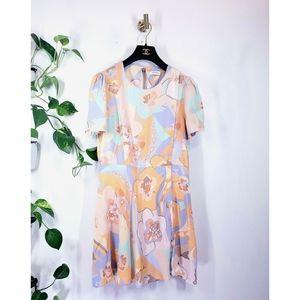 Nwot ZARA WOMAN Floral Multi Summer Mini Dress L
